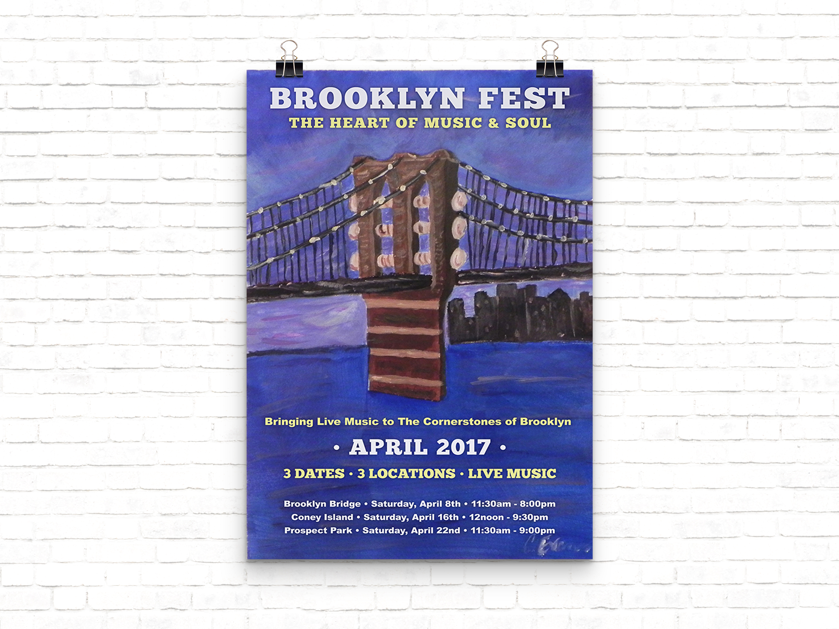 Brooklyn Music Festival Promotional Poster Design