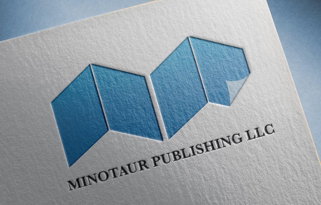 Minotaur Publishing Paper Pressed Logo Mockup