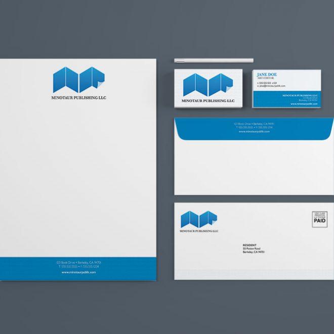 Minotaur Publishing Stationery Mockup