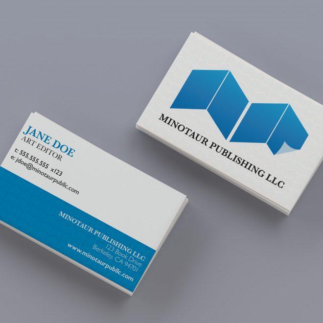 Minotaur Publishing Business Card Mockup