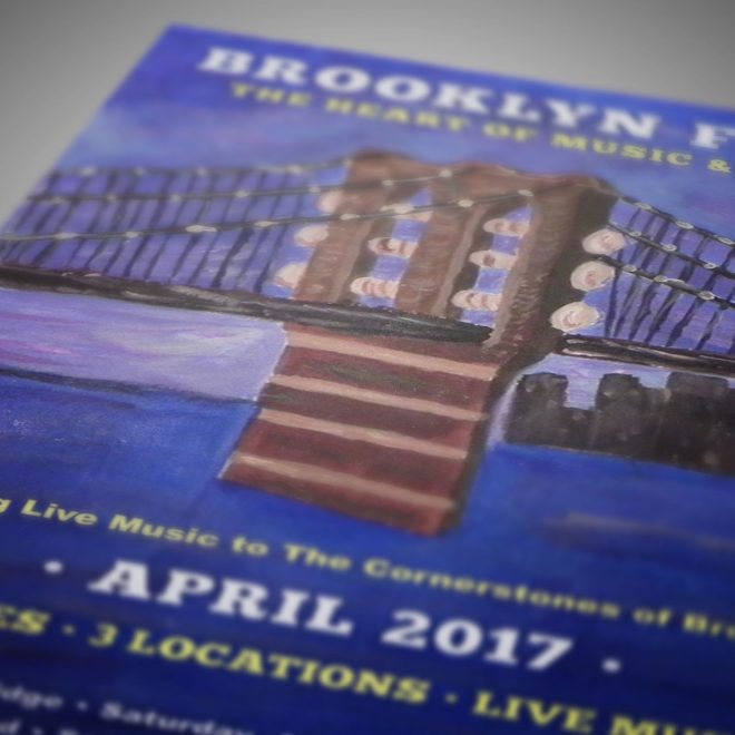 Brooklyn Music Festival Poster Closeup