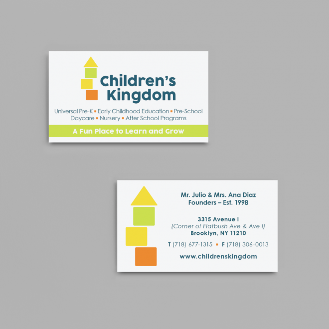 childrens-kingdom-mockup-of-two-business-cards-placed-on-a-solid-color-surface