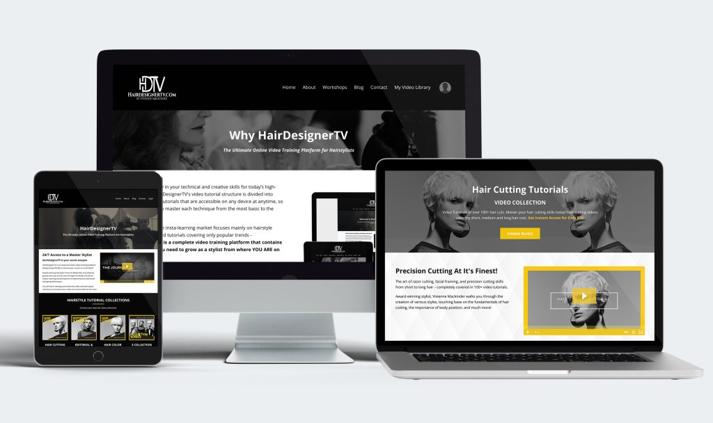 HairDesignerTV Screen Mockups