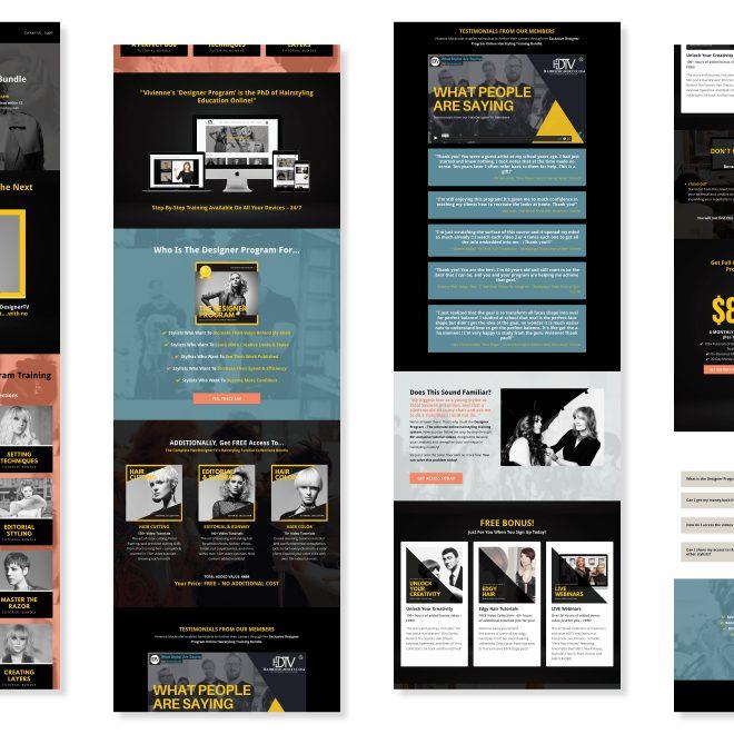 HairDesignerTV Designer Program Training Bundle - Sale Funnel Landing Page