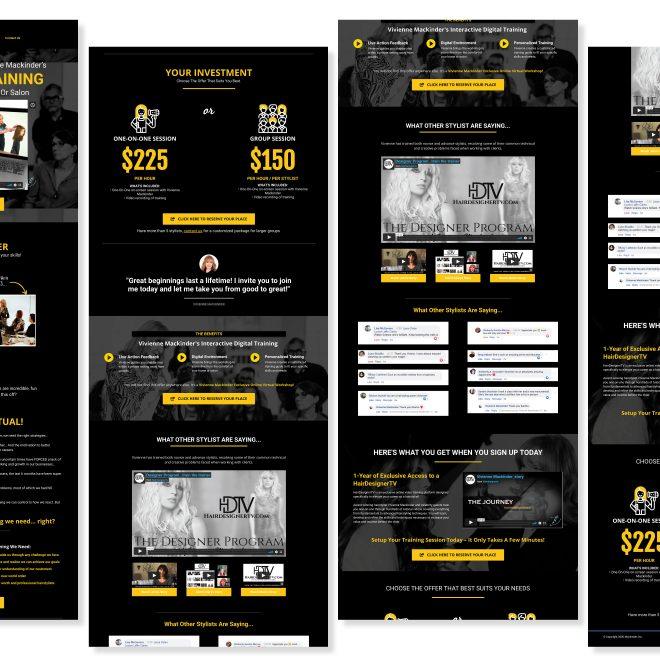 HairDesignerTV Virtual Workshops - Sales Funnel Landing Page