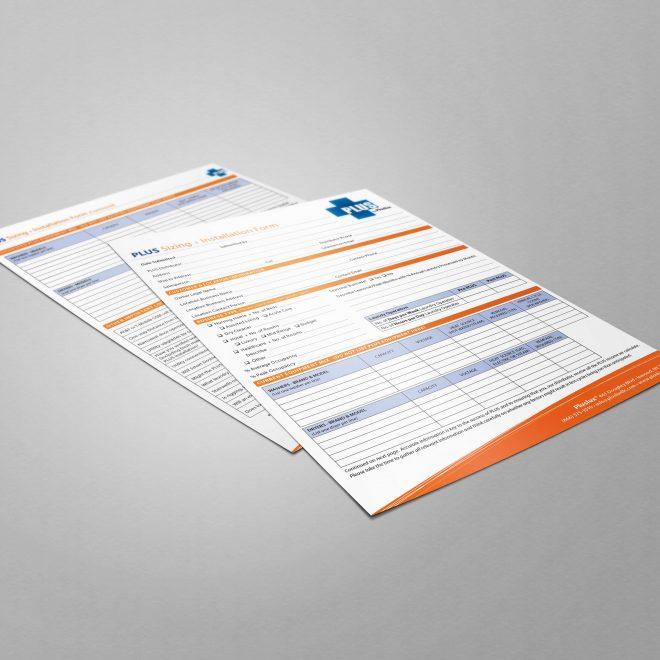 PLUS Sizing & Installation Form